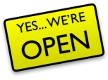 YES, WE ARE OPEN!!
